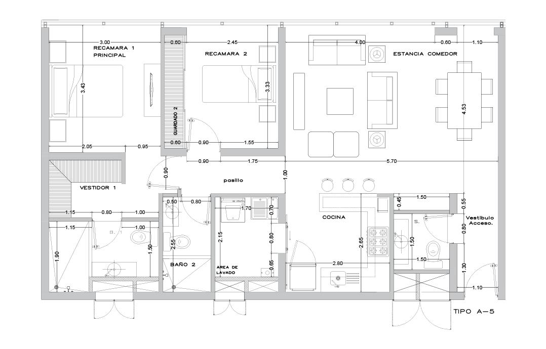 plano 88m2